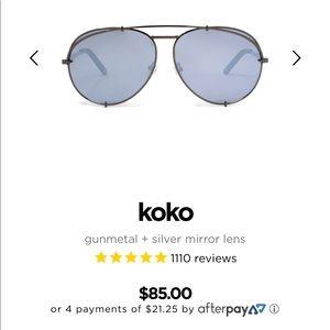 Diff Eyewear Accessories - Diff Eyewear KoKo Silver Mirror New